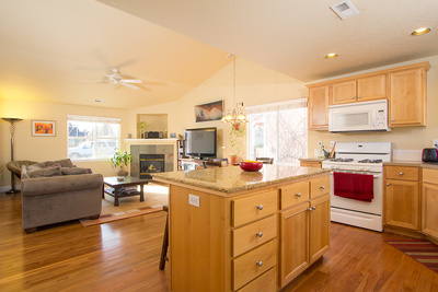 kitchen of a Bend Oregon home for sale