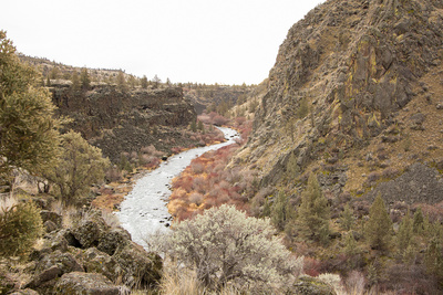 A view of the Deschutes river canyon at Crooked River Ranch from Folley Waters