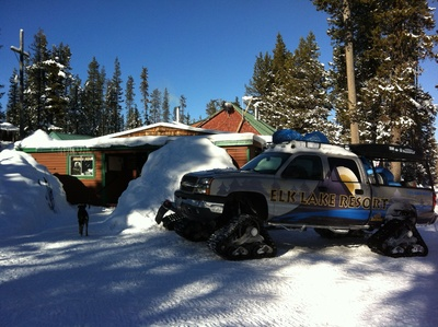 Snowmobile to Elk Lake Resort
