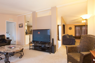 living room of CRR home for sale