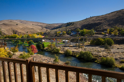 View of the Deschutes River from the home
