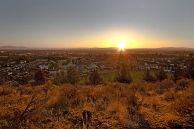 Sunrise from the top of pilot butte in looking east of bend