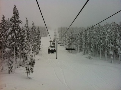 16 inches of powder over night Mt Bachelor