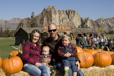 Pumpkin Patch at Smith Rock outside Bend Oregon